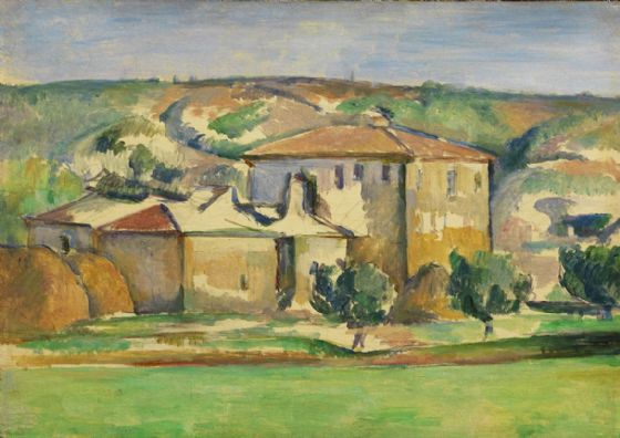Cezanne, Paul: Provencal Manor. Fine Art Print/Poster. Sizes: A4/A3/A2/A1 (004246)
